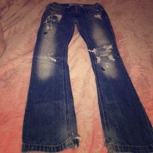 Destroyed Hollister jeans
